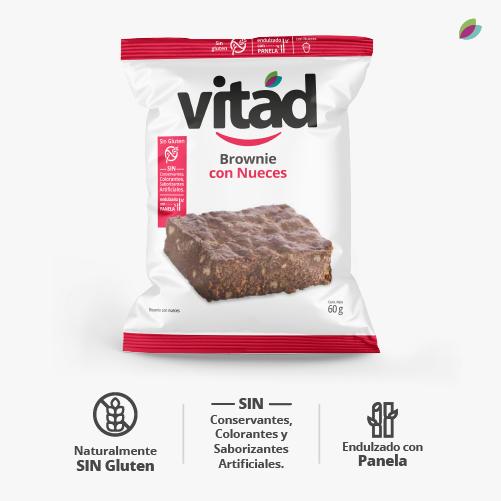 brownie x 4 con nueces VITAD