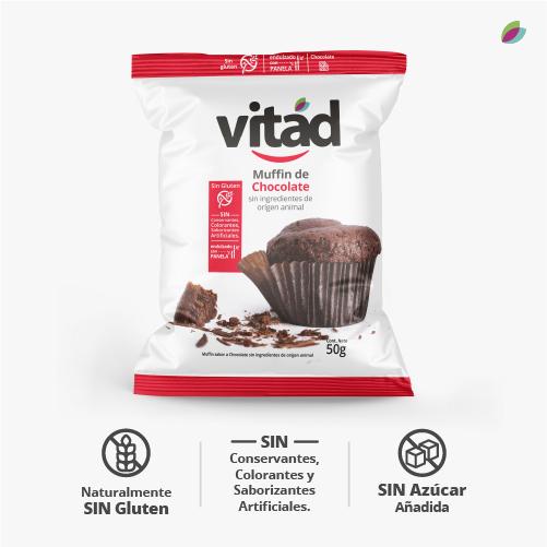 Muffin chocolate vitad
