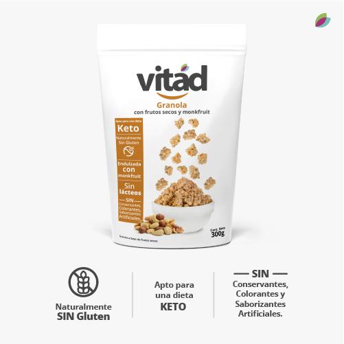 Granola KETO VITAD (Frutos secos, monkfruit)